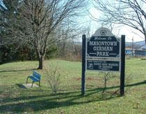 German-Masontown Park Sign and Bench