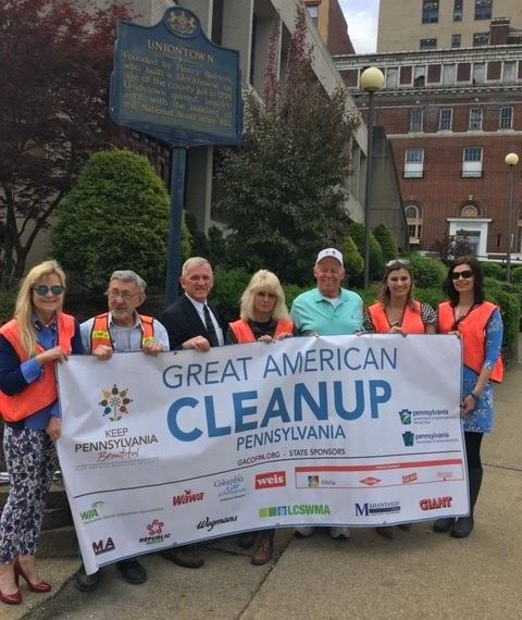Great American Cleanup 2019 on Penn and Locust Streets