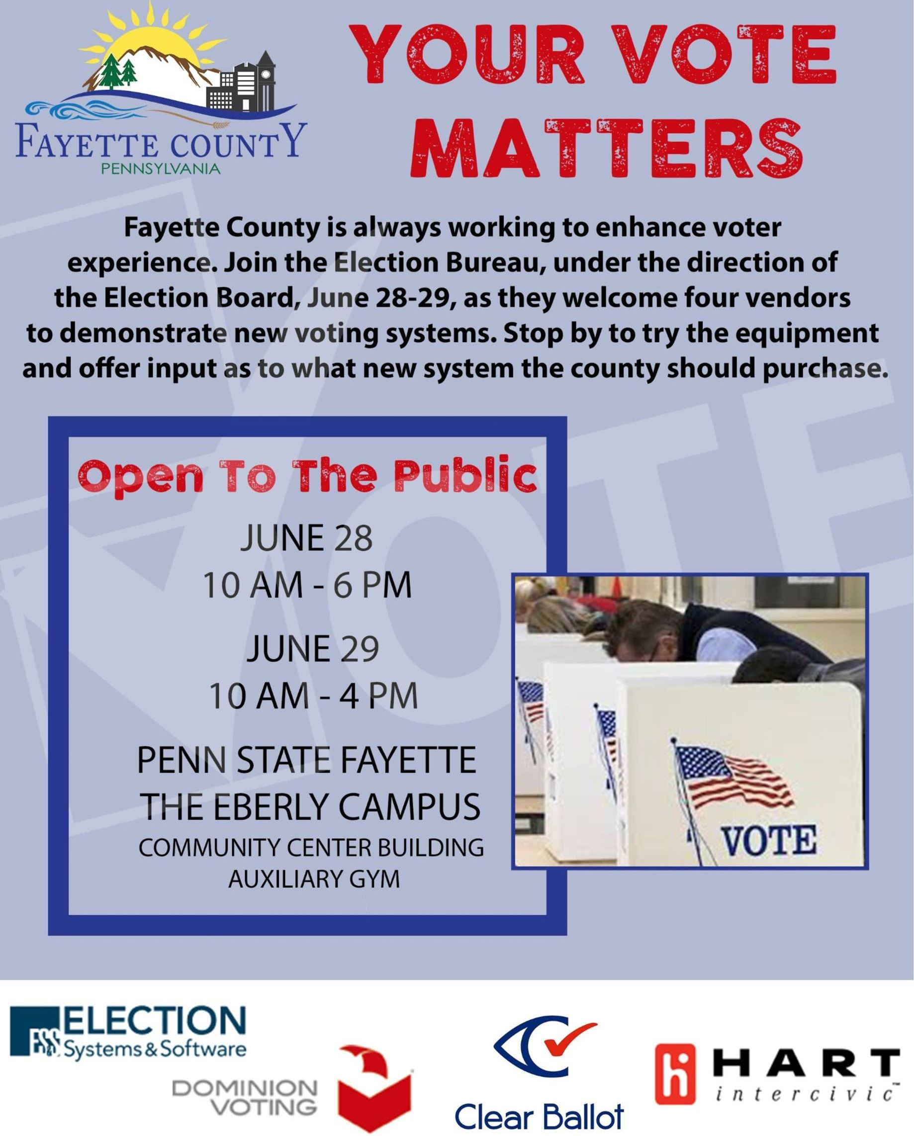 Voting Equipment Demonstration Flyer