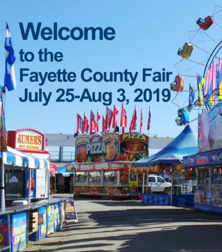 Photograph of the midway at the Fayette County Fair