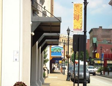 Main Street with Uniontown Banner