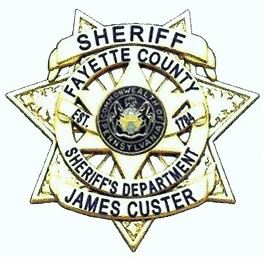 Fayette County Sheriff Badge with James Custer's Name