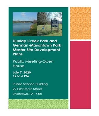 Notice of Publice Meeting/Open House for Master Site Development Plans for Dunlap Creek and German-M